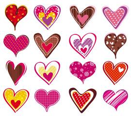 sixteen heart, vector