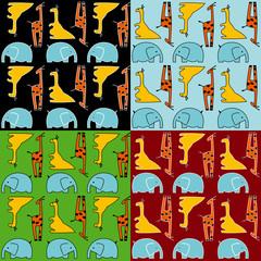 Animal vector pattern