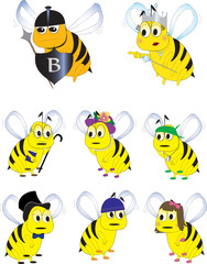 Different Bumble Bee Characters