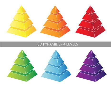 Presentation Graphics - 4 Level Pyramids