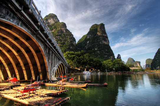 Bamboo raft on the Li river