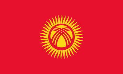 Flagge Kirgisistan
