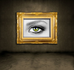 framed eye