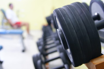 Keuken foto achterwand Fitness sollevamento pesi