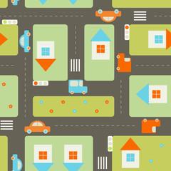 Foto op Plexiglas Op straat Streets seamless pattern