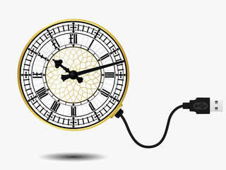 Big ben clock with USB cable