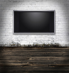 Tv in a grungy room