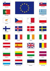EU flags CMYK with frames