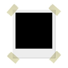 Polaroid mit Klebestreifen