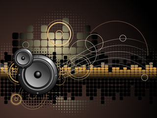 Urban Music Background - Vector