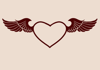 Heart & Wings frame