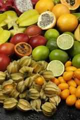 Exotic fruit arrangement