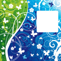 Floral background with a space for your text