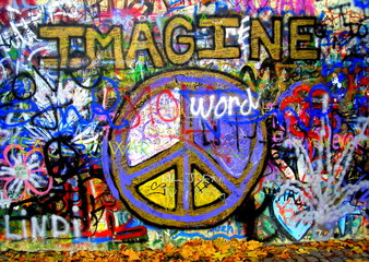 Imagine Lennon Wall Graffiti