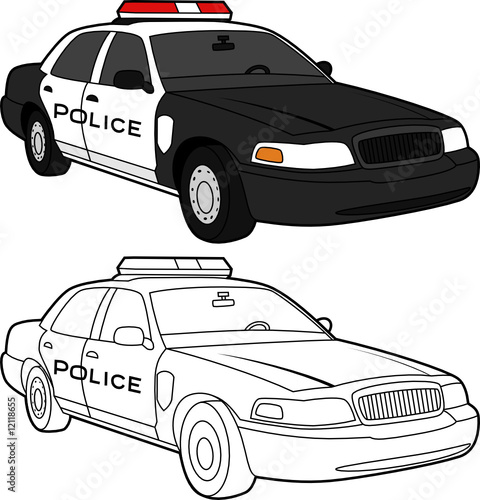 Black And White Cop Car Drawing Jerusalem House