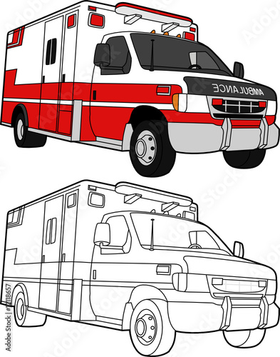 Vector Drawing Lines Java : Quot vector drawing of an ambulance color and lines stock