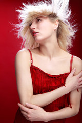 Portrait einer hübschen blonden Frau