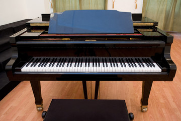 piano on the concert room