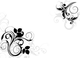 coin floral noir et gris