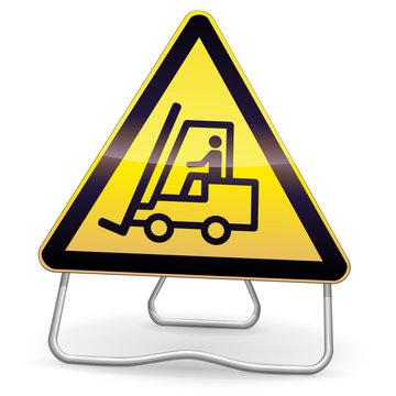 Panneau de danger véhicules de manutention (ombre)