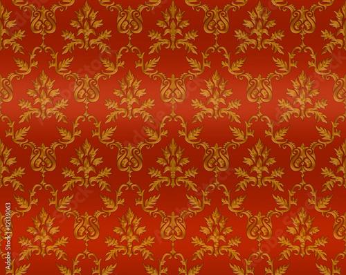 hintergrund pattern tapete k niglich rot gold. Black Bedroom Furniture Sets. Home Design Ideas