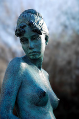 Statue in the gardens in Merrion Square in Dublin