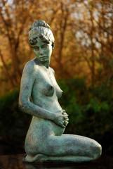 Statue in the gardens in Merrion Square in Dublin 2