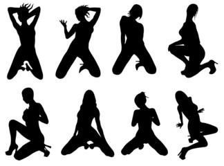 girls silhouette (pose) 3
