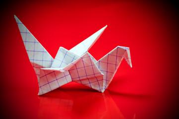 An origami paper crane.