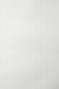 feuille blanche de papier à carreaux