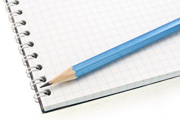 spiral notepad with pencil