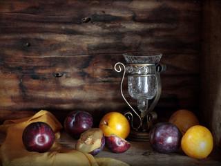 Still life with plum