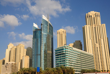 Highrise buildings in Dubai, United Arab Emirates