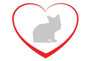 Herz für Katzen