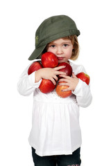 Mädchen mit roten Äpfeln