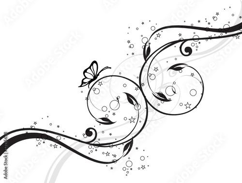 arabesque floral papillons toiles fichier vectoriel libre de droits sur la banque d 39 images. Black Bedroom Furniture Sets. Home Design Ideas