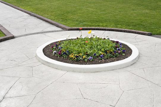 walkway flower bed