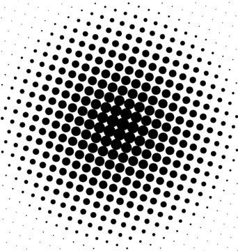 Black spot design halftone dots