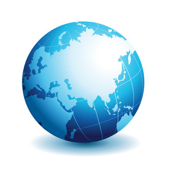 Globe asian view