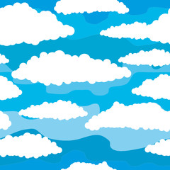 Papiers peints Ciel Seamless background - Sky with white clouds