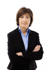 Businesswoman with crossed arms