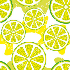 Seamless background Lemon-lime