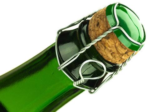 bouteille de cidre de normandie ou bretagne isolé sur blanc