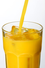 Orange Juice - Pouring into a Glass