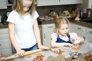 Sisters Baking Cookies Together