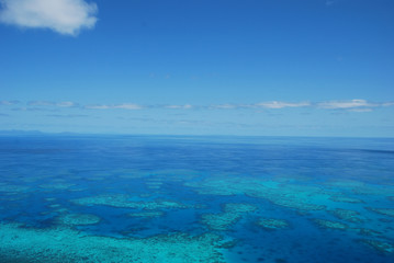 Aerial view of Great Barrier Reef. Queensland. Australia