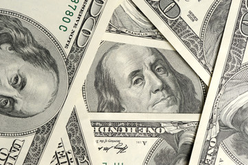 Dollar close up background