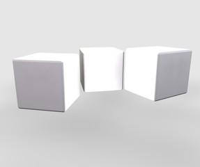 cubi bianchei nella luce