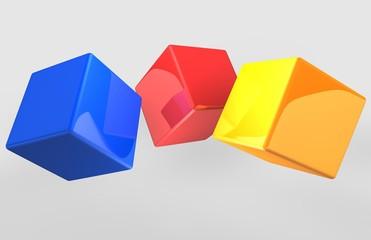 cubi colorati sparsi