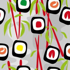 Seamless background sushi